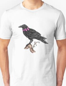 Crow in a Bow Unisex T-Shirt