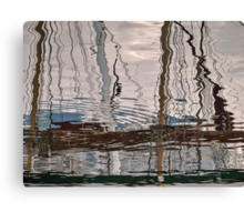 Early one morning in the harbour Canvas Print