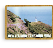 Flight of the Conchords NZ tourism poster Canvas Print