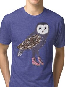 I skate OWL night long Tri-blend T-Shirt