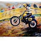 """""""The Man"""" Roger DeCoster Sears Point Trans AMA 1970's by robkinseyart"""