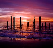 Port Willunga Sunset by Steve Chapple