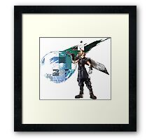 Cloud Strife Gridwork design & logo Framed Print