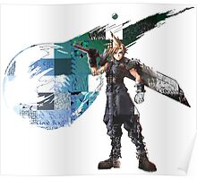 Cloud Strife Gridwork design & logo Poster
