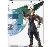 Cloud Strife Gridwork design & logo iPad Case/Skin