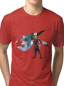 Cloud Strife Gridwork design & logo Tri-blend T-Shirt