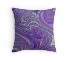 Kind Of Wild Abstract Design with Lavender Purple and Pink Throw Pillow