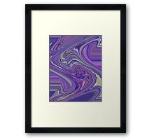 Kind Of Wild Abstract Design with Lavender Purple and Pink Framed Print