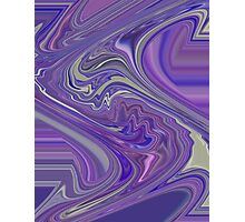 Kind Of Wild Abstract Design with Lavender Purple and Pink Photographic Print