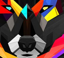 Abstract Wolf  Sticker