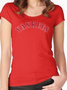 Boston Yankees Funny Geek Nerd Women's Fitted Scoop T-Shirt