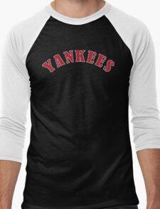 Boston Yankees Funny Geek Nerd Men's Baseball ¾ T-Shirt