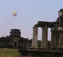 Hot Air Balloon at Ankor Wat- Cambodia by Coloursofnature