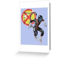 NightCrawler Gridwork design & logo Greeting Card