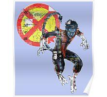 NightCrawler Gridwork design & logo Poster