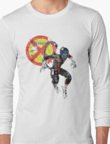 NightCrawler Gridwork design & logo Long Sleeve T-Shirt