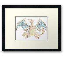 Charizard Typography Framed Print