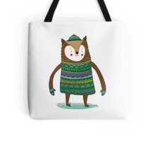 Retro Winter Bear Tote Bag