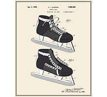 Hockey Skate Patent - Colour Photographic Print