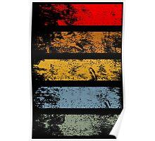 Grunge Strips Poster