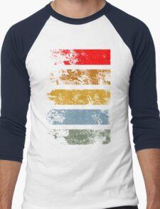 Grunge Strips Men's Baseball ¾ T-Shirt