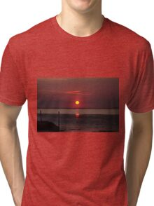 Sunset Over The Hampshire Coast Tri-blend T-Shirt