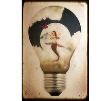 Sweet Dreams...The Real Man's Nightlight Photographic Print