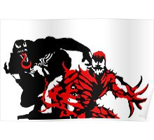 Venom & Carnage double silhouettes  Poster