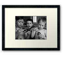 The Boyz at Moodus Framed Print