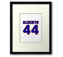 National baseball player Alberto Callaspo jersey 44 Framed Print