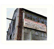 Derelict Net Manufacturer, Fleetwood Lancashire Art Print