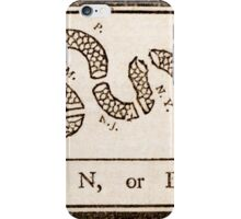 Benjamin Franklin's Join, or Die cartoon iPhone Case/Skin