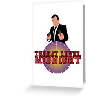 Threat Level Midnight Greeting Card
