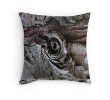 Narled wood Throw Pillow