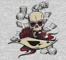Ace of Skulls One Piece - Short Sleeve