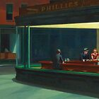 Nighthawks by Edward Hopper 1942 by Adam Asar