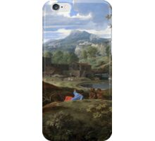 Nicolas Poussin –  Landscape with Buildings (1648-1650) iPhone Case/Skin