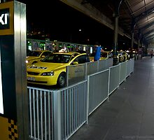 Flinders St Station Taxi Rank by FuriousEnnui