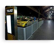 Flinders St Station Taxi Rank Canvas Print