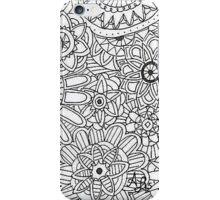 Zentangle Pattern Black & White iPhone Case/Skin