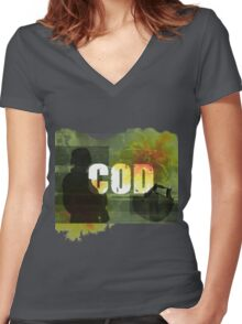 COD Crazy Women's Fitted V-Neck T-Shirt