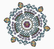 Ornamental Vibrant Floral Mandala by famenxt