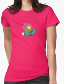 Cute Alien In A Spaceship Womens Fitted T-Shirt