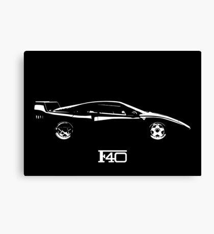 Ferrari F40 Mono Canvas Print