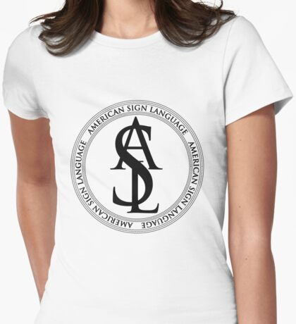 ASL Black Logo Womens Fitted T-Shirt