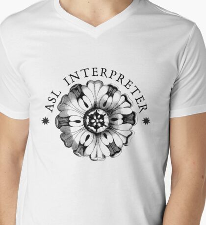 ASL Interpreter Mens V-Neck T-Shirt