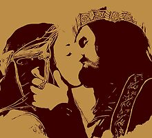 Aragorn and Arwen Kiss by augustinet