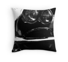 Black White Vette Throw Pillow