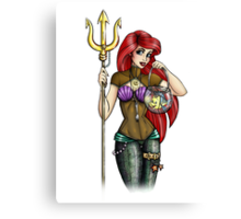 Steampunk Ariel - The Little Mermaid Canvas Print