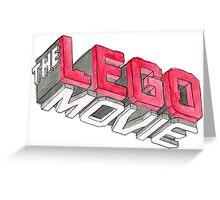 Lego Movie Greeting Card